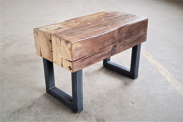 Farmhouse+rustic+bench_reclaimed+wood+bench_wood+side+table_handcrafted+table+vault+furniture
