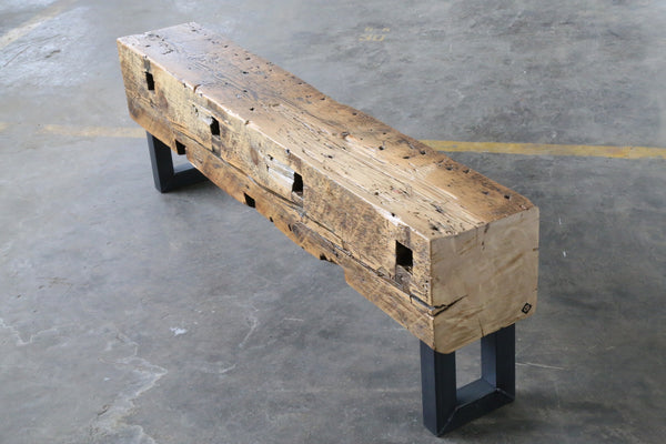 Chicago reclaimed beam bench + vault furniture