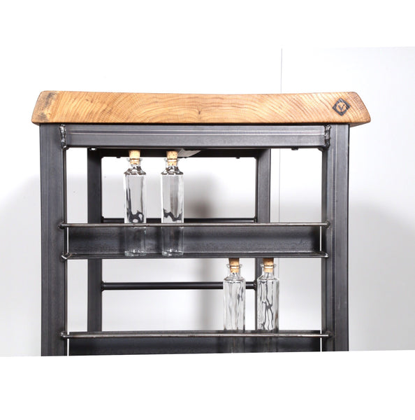 bar cart, spice storage