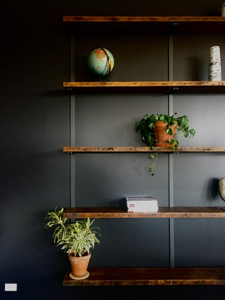 Reclaimed Pine Wall Mounted Shelving Unit