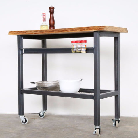 vault furniture white oak bar cart