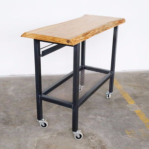 industrial kitchen cart, vault furniture white oak cart