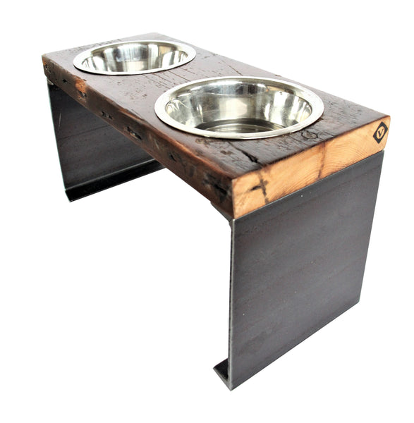 rustic+dog+bowl_large+dog+bowl_elevated+dog+feeder_reclaimed+wood+steel+pet+bowl_large+breed+dog+bowl_vault+furniture