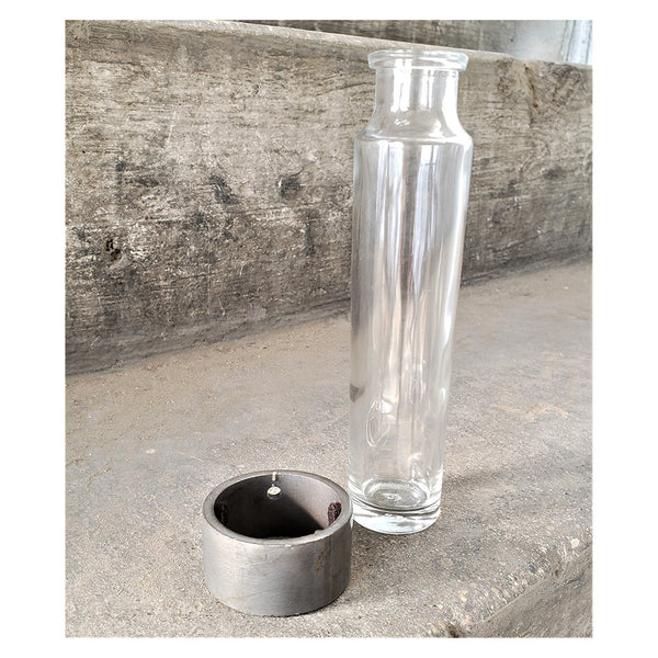 rooting-vase_bud-vase_glass-bottle_steel-ring