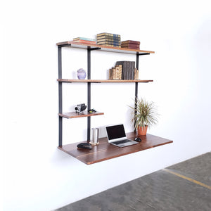 Floating Desk + 3 Shelves