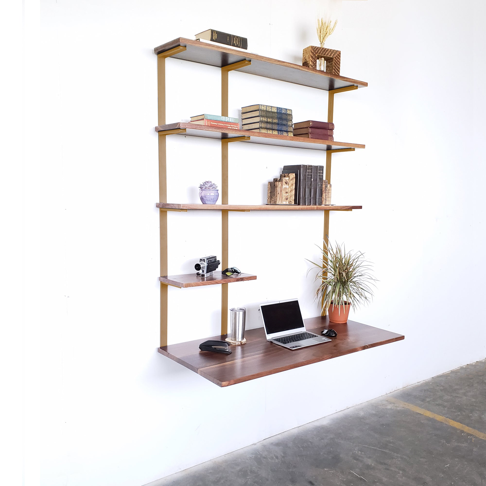 gold-bracket-wall-mount-desk_mid-century-modern-wall-unit_home-office_wall-shelf
