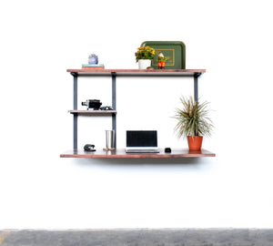 Floating Desk + 2 Shelves