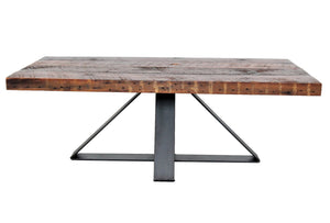 modern industrial coffee table _ wood and steel table _ custom furniture chicago
