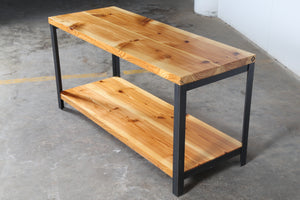 pine media console table , reclaimed pine console table , vault furniture console table