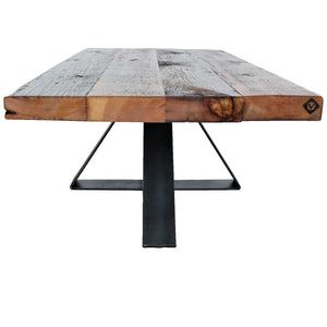 reclaimed wood and steel table _ custom handmade furniture _ vault furniture