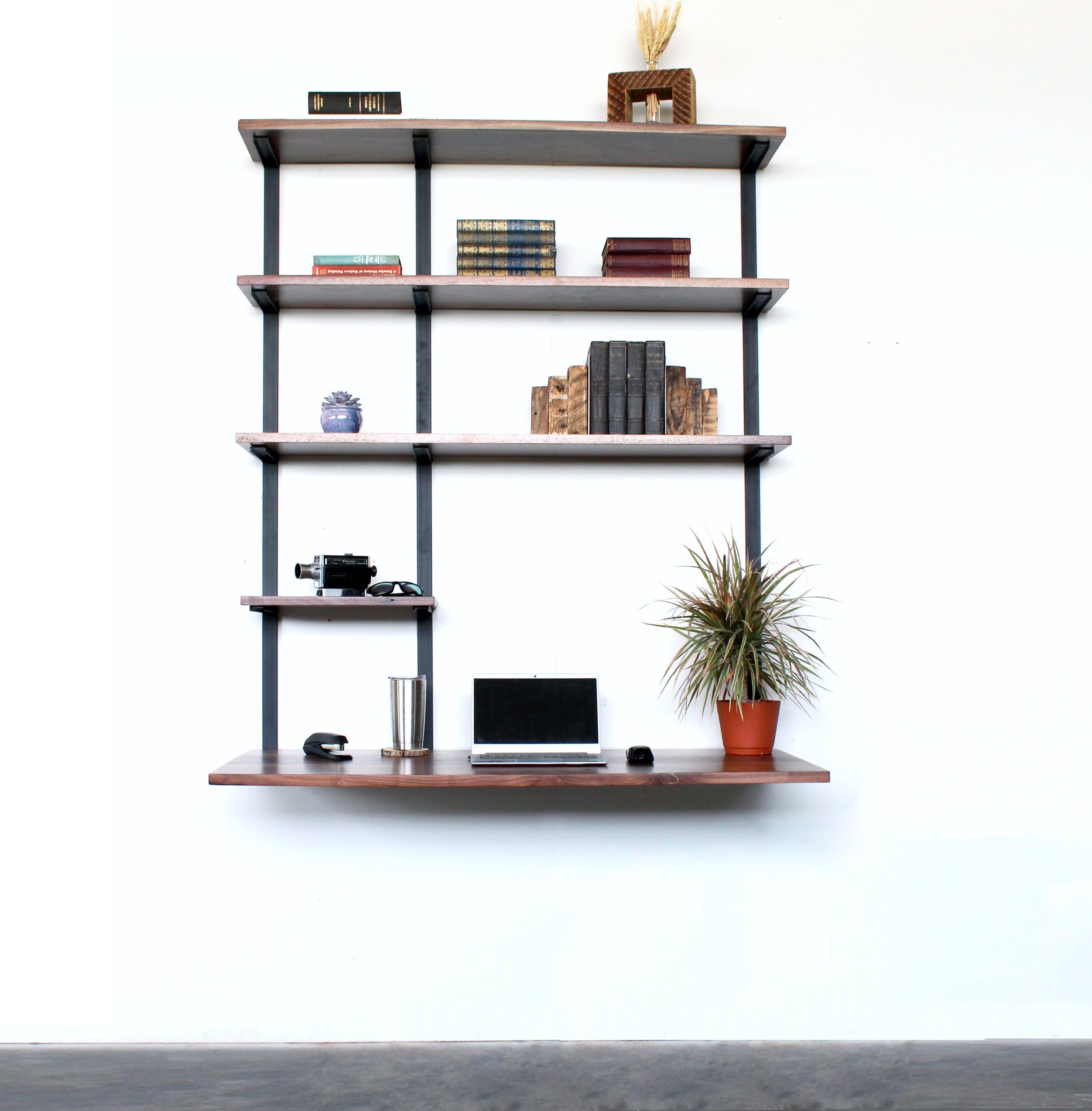 modern-desk_hanging-desk_minimal-office-storage_wall-mount-desk_black-walnut-office