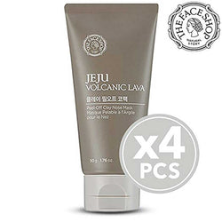THEFACESHOP Jeju Volcanic Lava Peel Off Clay Nose Mask, 50g (Pack of 4)