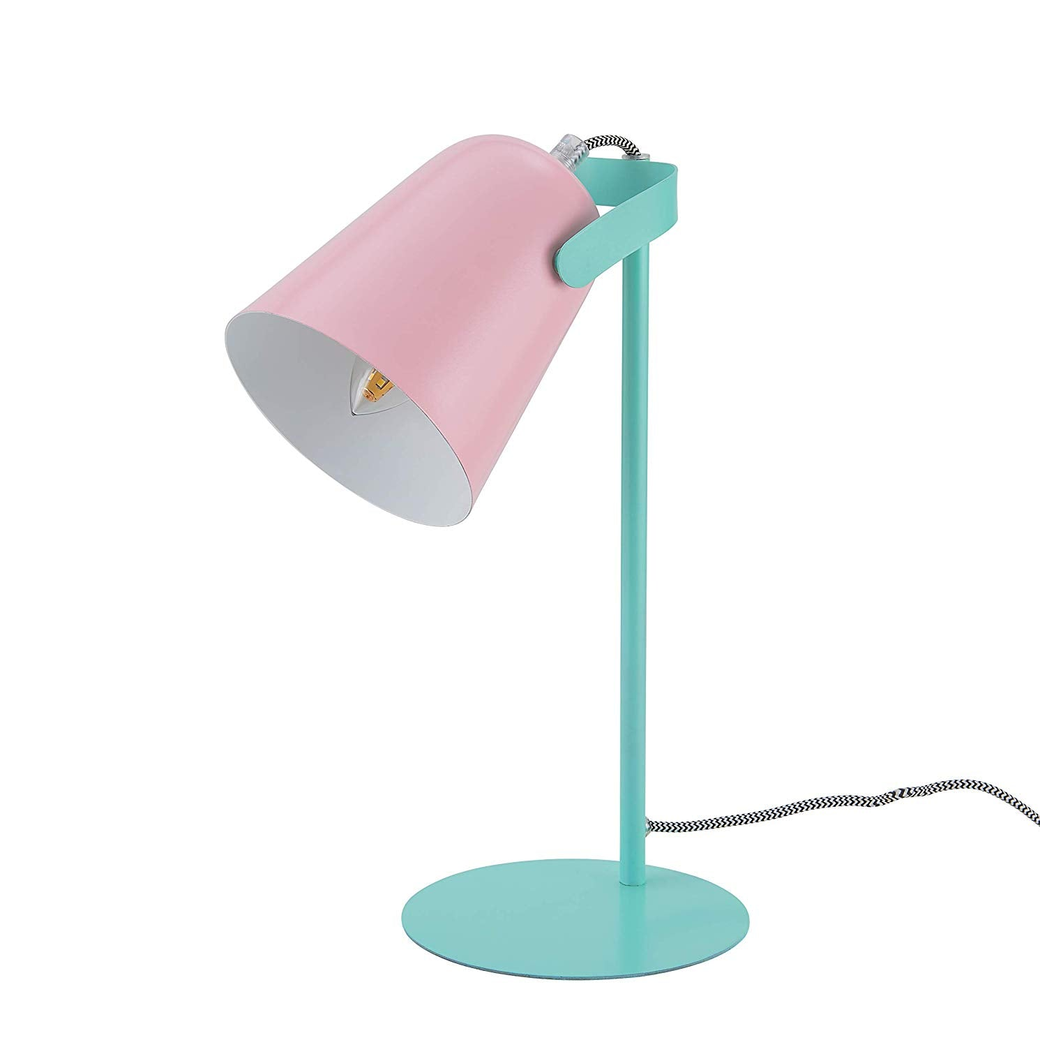 Archiology Bot Desk Lamp, Matte Pink and Green Table Light, Cute Pastel Design for Reading and Bedroom Lighting, 15""