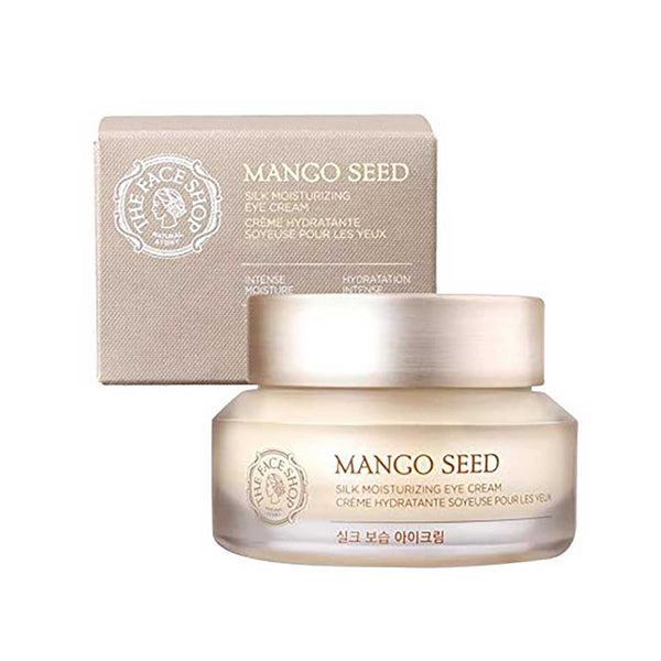 THE FACE SHOP Mango Seed Silk Mositurizing Eye Cream For Dry Skin, 30mL/1.0Oz