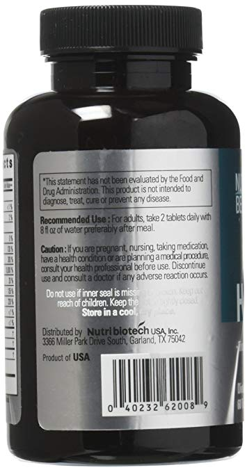NutraBelief Daily Biotin B7 Vitamin Pills, Boosts Natural Hair Growth and Volume - 3000 mcg - 60 Tablets