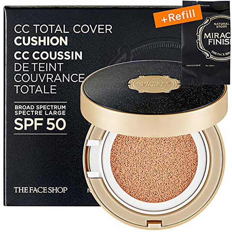 THEFACESHOP Miracle Finish CC Total Cover Cushion Set