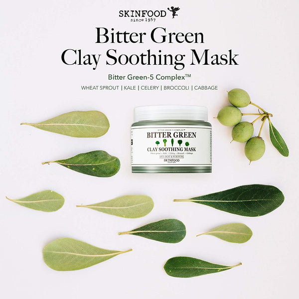 Skinfood Bitter Green Soothing Clay Facial Mask 145 g (5.11 oz)