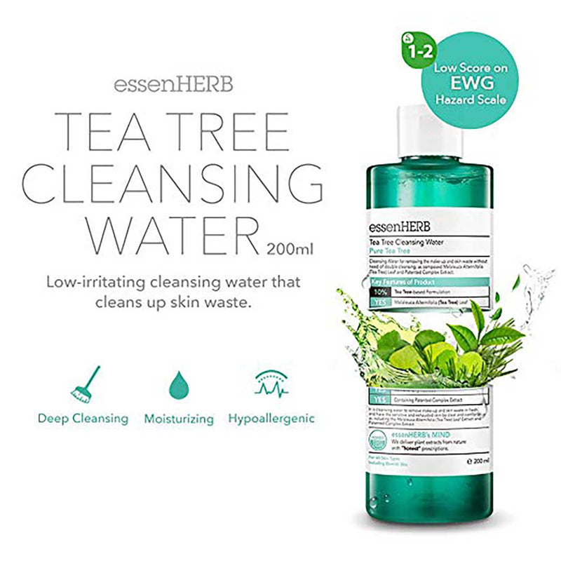 ESSENHERB Tea Tree Cleansing Water 200ml/6.76 oz