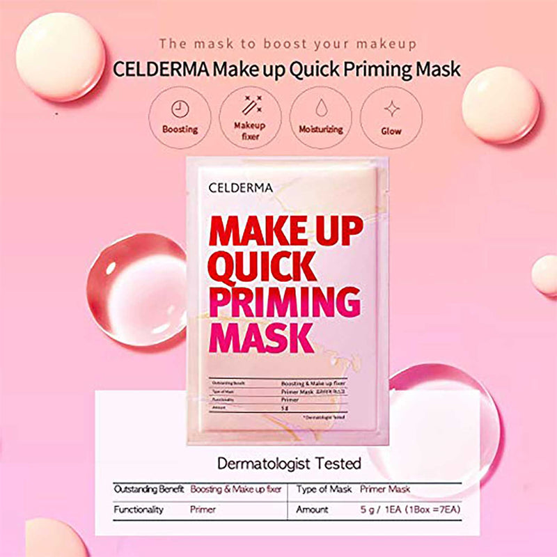 Celderma Korean Makeup Base Quick Priming Mask (7 Sheets)
