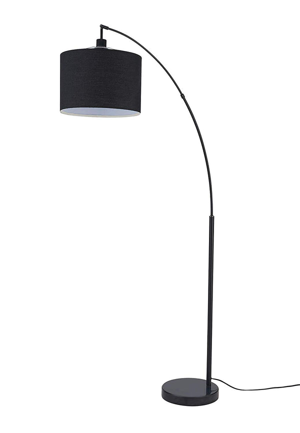 [Archiology] Beverly Black Floor Lamp - Standing Pole Light for Bedrooms Living Rooms, Minimalist Design with Lampshade and Steel Base, 71""