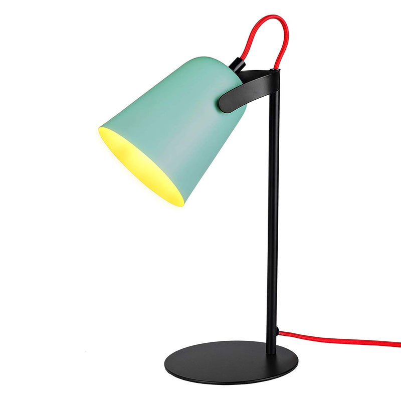 [Archiology] Bot Desk Lamp, Matte Black and Green Table Light, Cute Pastel Design for Reading and Bedroom Lighting, 15""