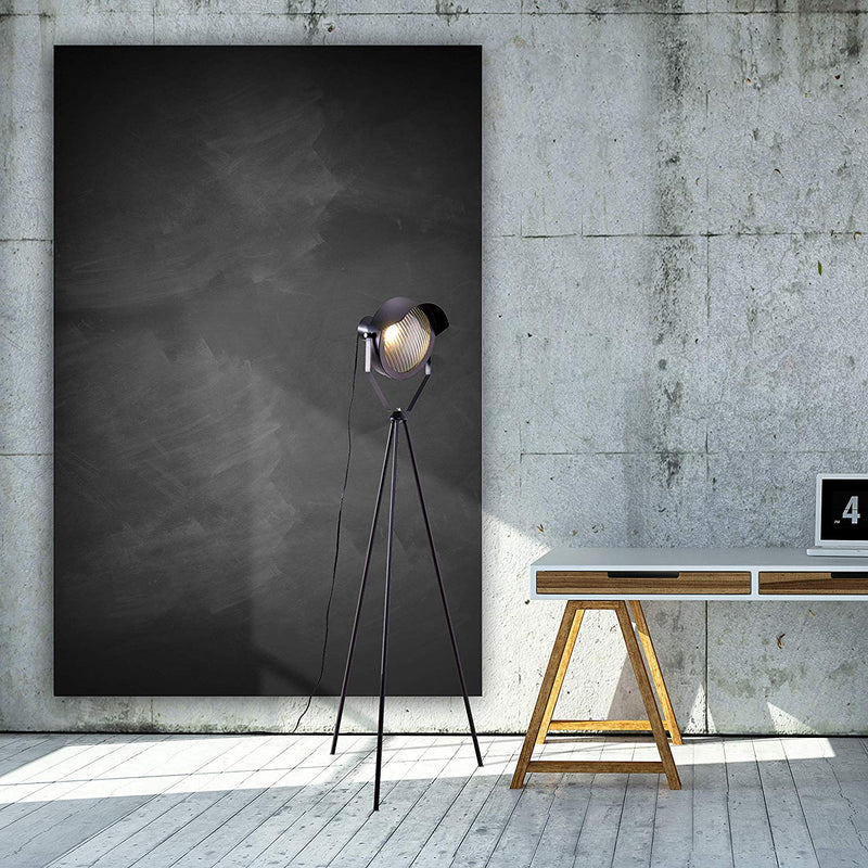 [Archiology] Kanzo Black Metal Tripod Floor Lamp - Retro, Industrial, Vintage, Mid Century, Rustic, Modern, Contemporary, Adesso, Accent Design for Studio Lights and Bedrooms with Bulb