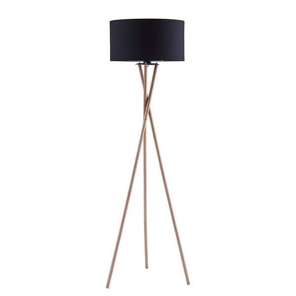 [Archiology] NOA Wood Tripod LED Floor Lamp - Modern Living Room Standing Light -