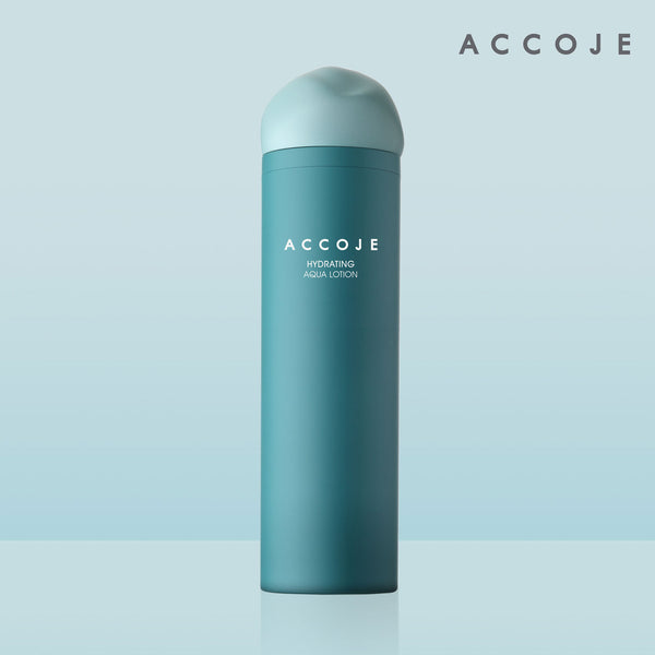 [ACCOJE] Hydrating Aqua Lotion, 130 ml / 4.4 fl. oz, provides immediate nourishment and hydration to the skin while maintaining the balance between oil & moisture