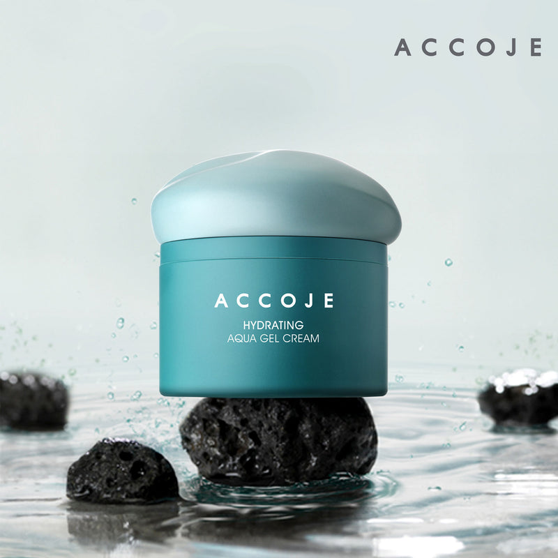 [ACCOJE] Hydrating Aqua Gel Cream, Moisturizing Cream with Jeju Black Radish Extract, Strengthens and Replenishes Skin Moisture (50 ml / 1.7 fl oz)
