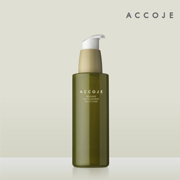 [ACCOJE] Hydrating Aqua Jeju Cleansing Peeling Gel To Foam, Revitalizing Facial Cleanser for Sensitive and Oily Skin, Removes Sebum and Dead Skin