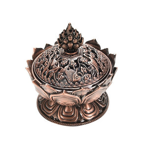 Holy Tibetan Lotus Incense Burner-USmeditate