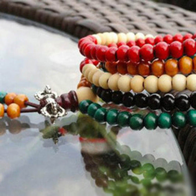 Sandalwood Buddhist Buddha Meditation 108 Prayer Bead Malla \ Bracelet-USmeditate