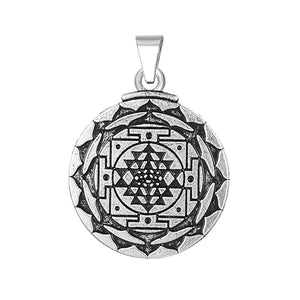 3rd Eye Hindu Goddess Yoga Sri Yantra Necklace-USmeditate