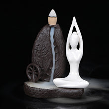 Ceramic Yogi Backflow Cone Incense Burner-USmeditate