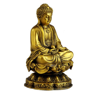 Opening light God of Mercy , Peace and Health Fine Pure Copper Buddha Statue-USmeditate