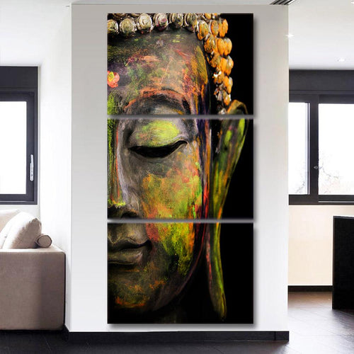 3 Piece Canvas Buddha Meditation Wall Art-USmeditate