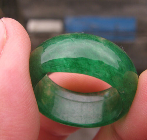 Chinese Natural Green Clear Stone Ring-USmeditate