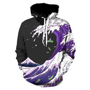 Multi Print Sweatshirts And Hoodies-USmeditate