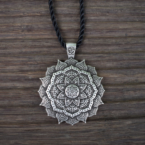 Mandala Necklace | Sacred Geometry Pendant-USmeditate