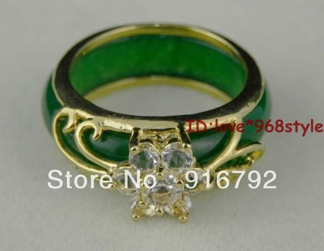 Rare Green stone Gem Ring-USmeditate