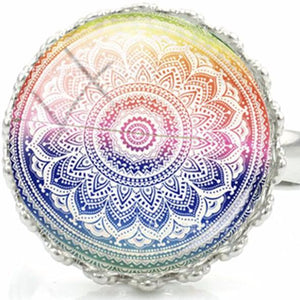 Mandala Flower Rings-USmeditate
