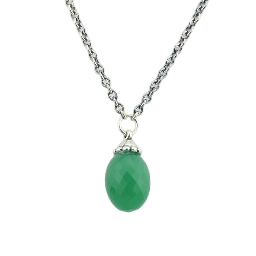 Green Crystal Pendant Dangle Necklace-USmeditate