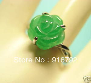 Natural Green Stone Ring-USmeditate