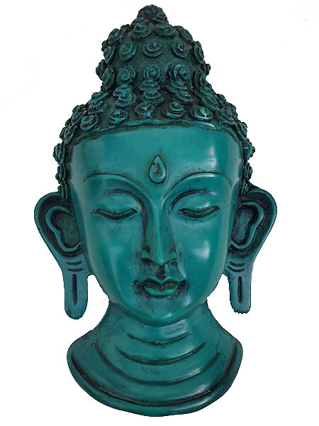 Green Buddha Head Statue \ Mask-USmeditate