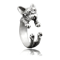 French Bulldog Wrap-Around Hug Ring