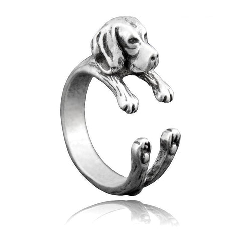 Beagle Wrap-Around Hug Ring
