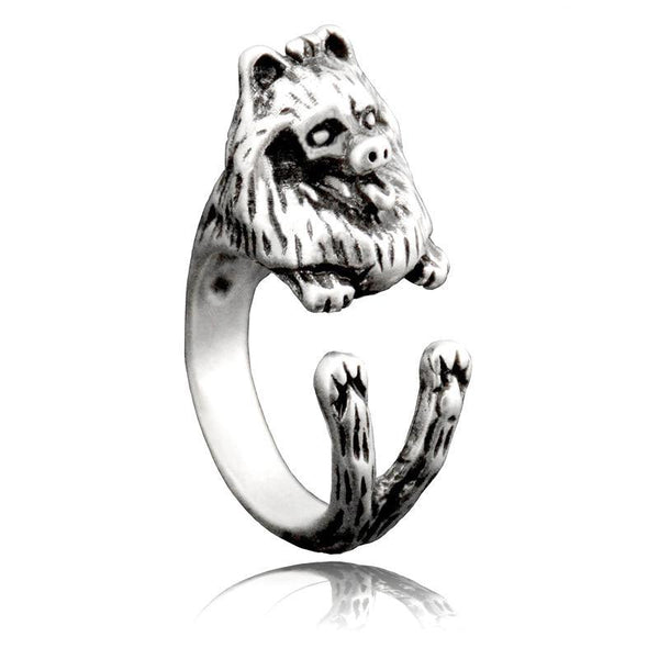 Pomeranian Wrap-Around Hug Ring