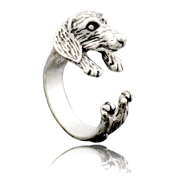 Dachshund Wrap-Around Hug Ring