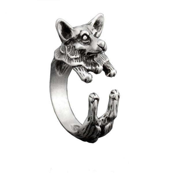Pembroke Welsh Corgi Wrap-Around Hug Ring