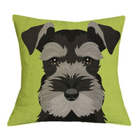 Schnauzer Pillow Art Deco Pillow Case